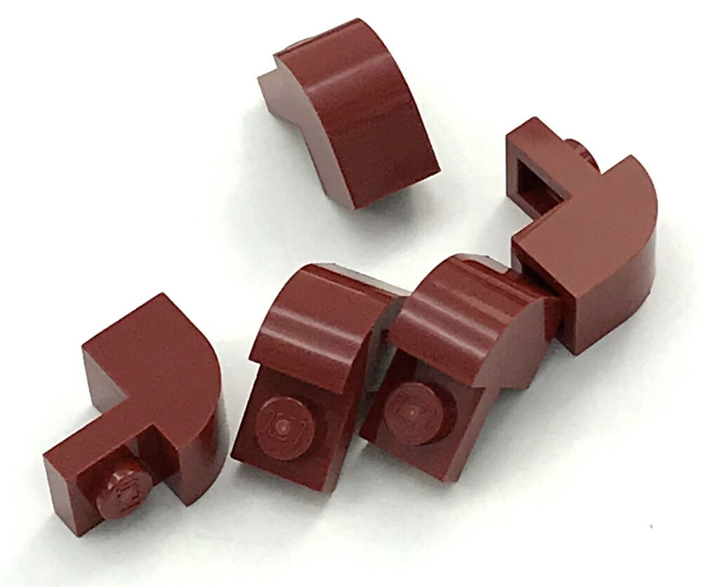 Lego 5 New Tan Bricks Modified 1 x 2 x 1 1//3 with Curved Top Pieces
