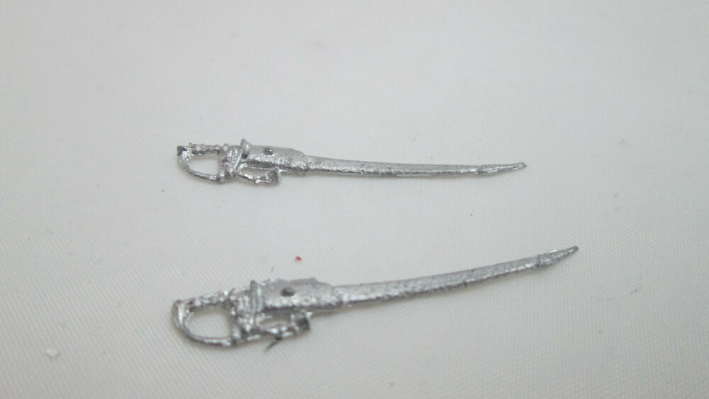 2 Dollhouse Miniature Unfinished Metal 1:24th scale candlesticks