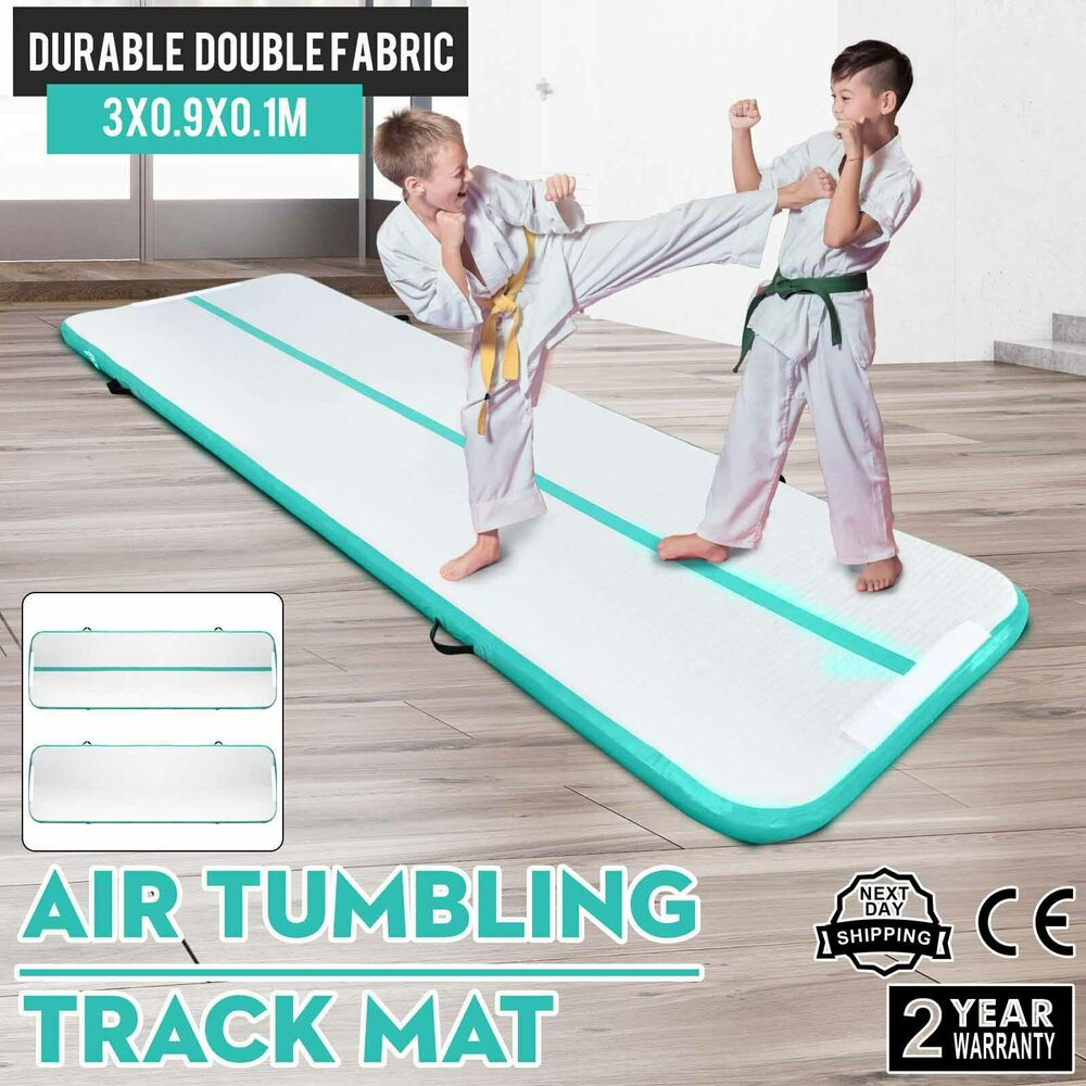 10Ft Air Track Floor Tumbling Inflatable Gym Mat Portable