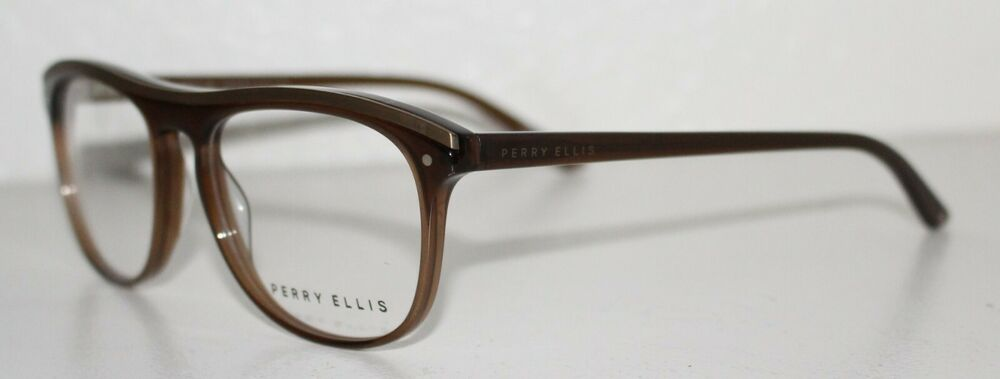 212d29ce2c26 Details about PERRY ELLIS PE 393 1 BROWN New Optical Eyeglass Frame For Men