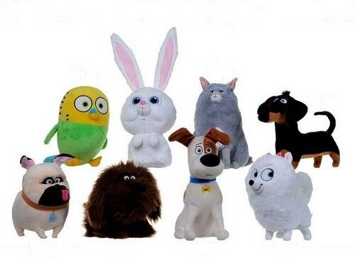 """8"""" SECRET LIFE OF PETS LICENSED PLUSH CHOICE 8 MOVIE CHARACTERS SOFT TOYS S2"""