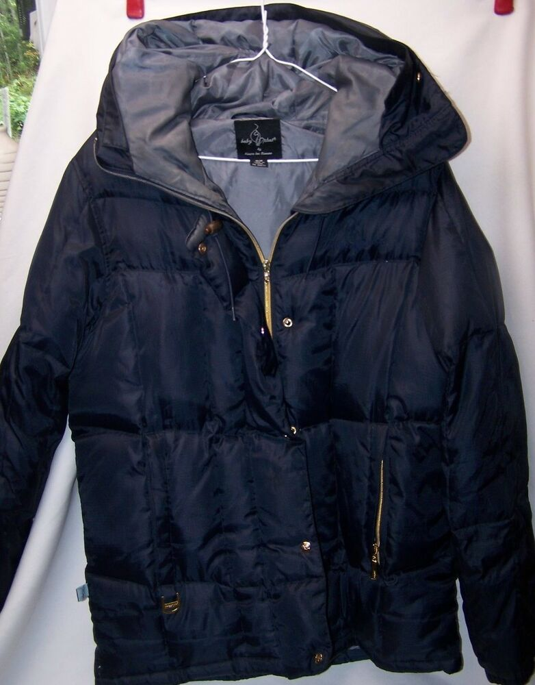 Details about Navy Baby Phat Down Filled Puffer Coat Jacket Hood Medium Rare 665bbb67b