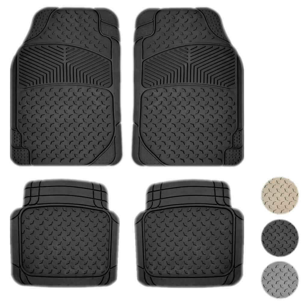 New 4pc All Weather Premium Flex Truck Rubber Floor Mats