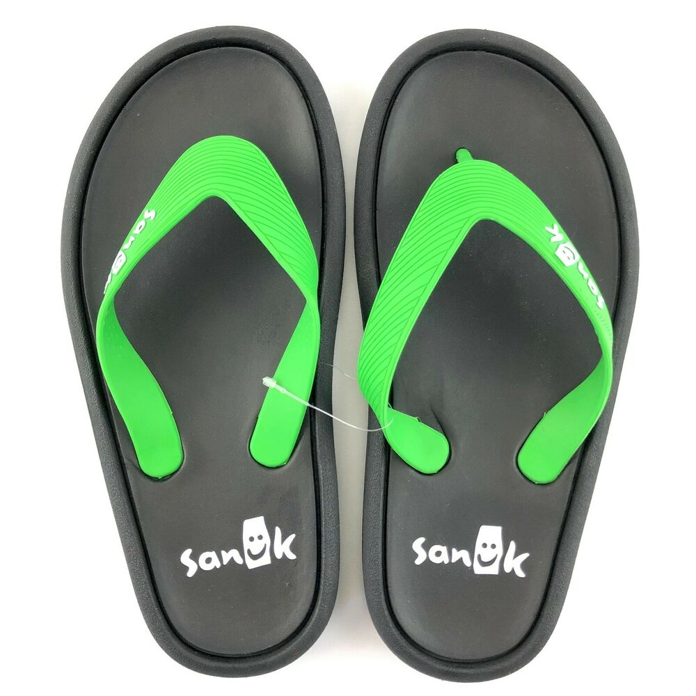 b28cc8e1b71 Details about Sanuk Sidewalker Wide Flip Flops Sandals Mens Sz 11 Womens Sz  12 Green 1095551