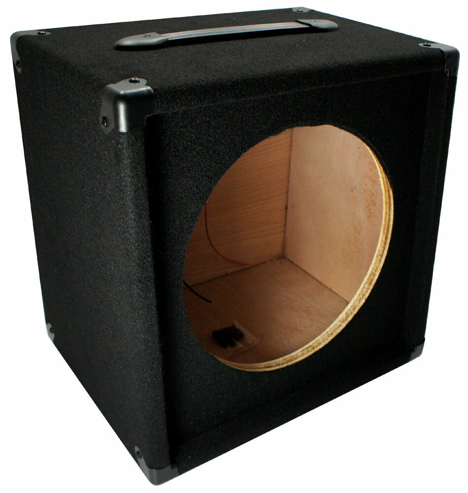electric guitar 1x12 empty 12 speaker carpet cabinet enclosure box 1 4 jack 709100413597 ebay. Black Bedroom Furniture Sets. Home Design Ideas