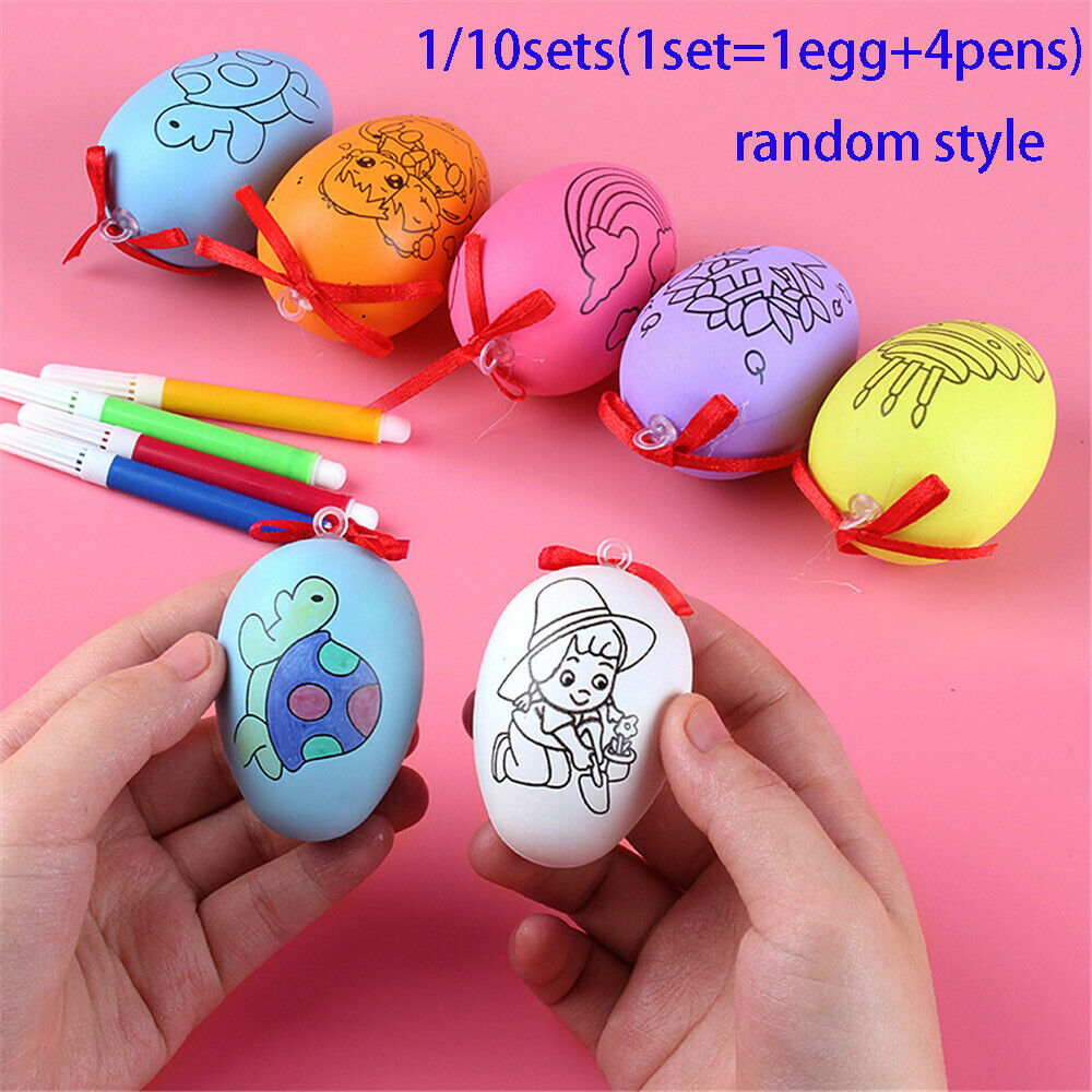 Details about easter eggs handmade cartoon painted painted eggshell toys kids gift diy