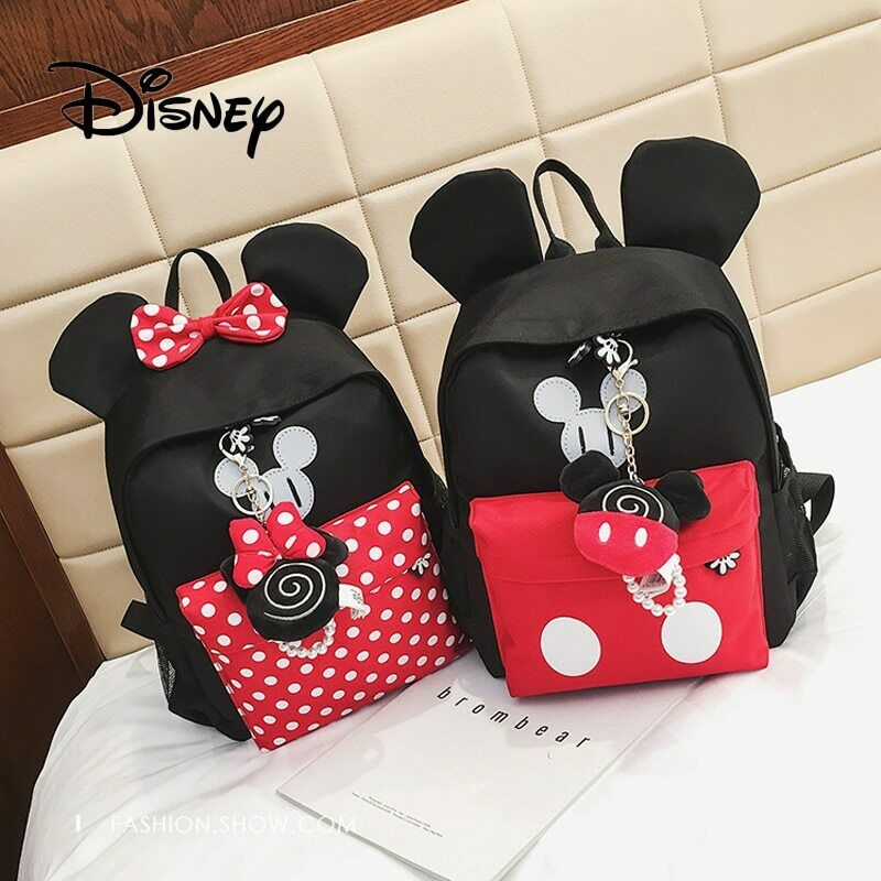 ef9528467ca Details about 2019 Disney Children Girls School Bag Mickey Mouse Kids Boy  Backpack Plush Bag