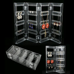 Kyпить Clear Acrylic Earrings Necklace Jewelry Display Rack Stand Organizer Holder Case на еВаy.соm