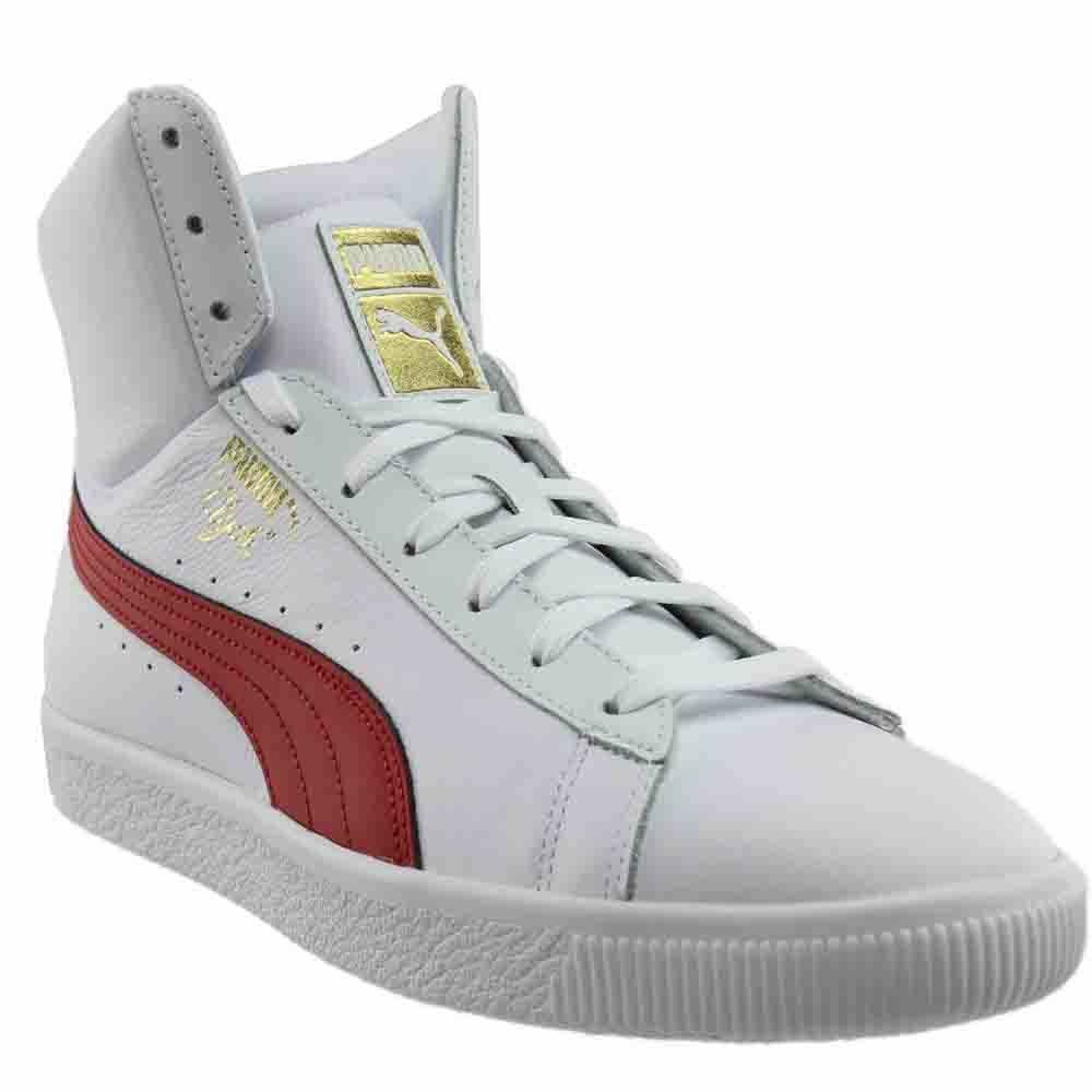 dd3c7f3f996f30 Details about Puma Clyde Core Mid Sneakers - White - Mens