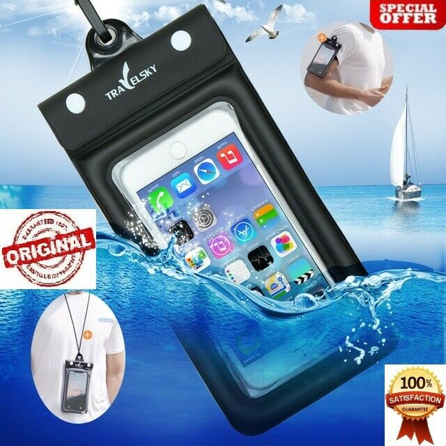 best sneakers e27d7 221e4 Float Airbag Waterproof Underwater Cell phone Pouch Dry Bag Case Universal    eBay
