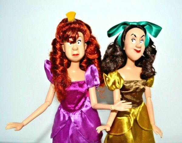 Disney Store Anastasia and Drizella Delux dolls, Cinderellas Ugly Step Sisters