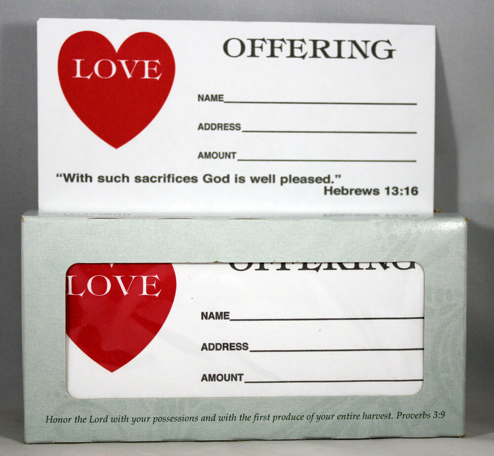 Church Offering Envelopes LOVE Bill Size Brand NEW Package ...