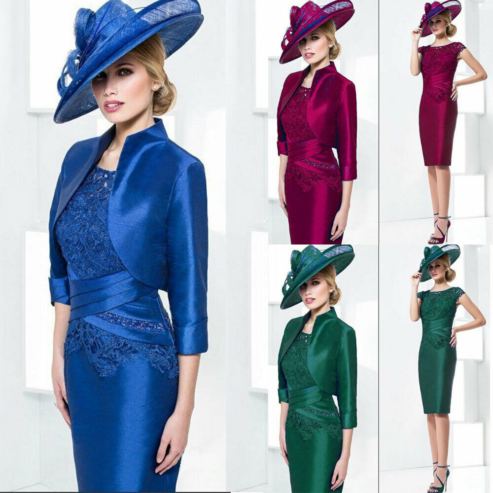 Royal Blue Mother Of The Bride Suit Outfit Jacket Lace Wedding