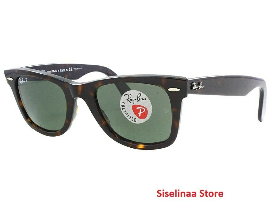 b62615327c Ray-Ban Wayfarer Tortoised Polarized Sunglasses RB2140 902 58 50mm New  Authentic