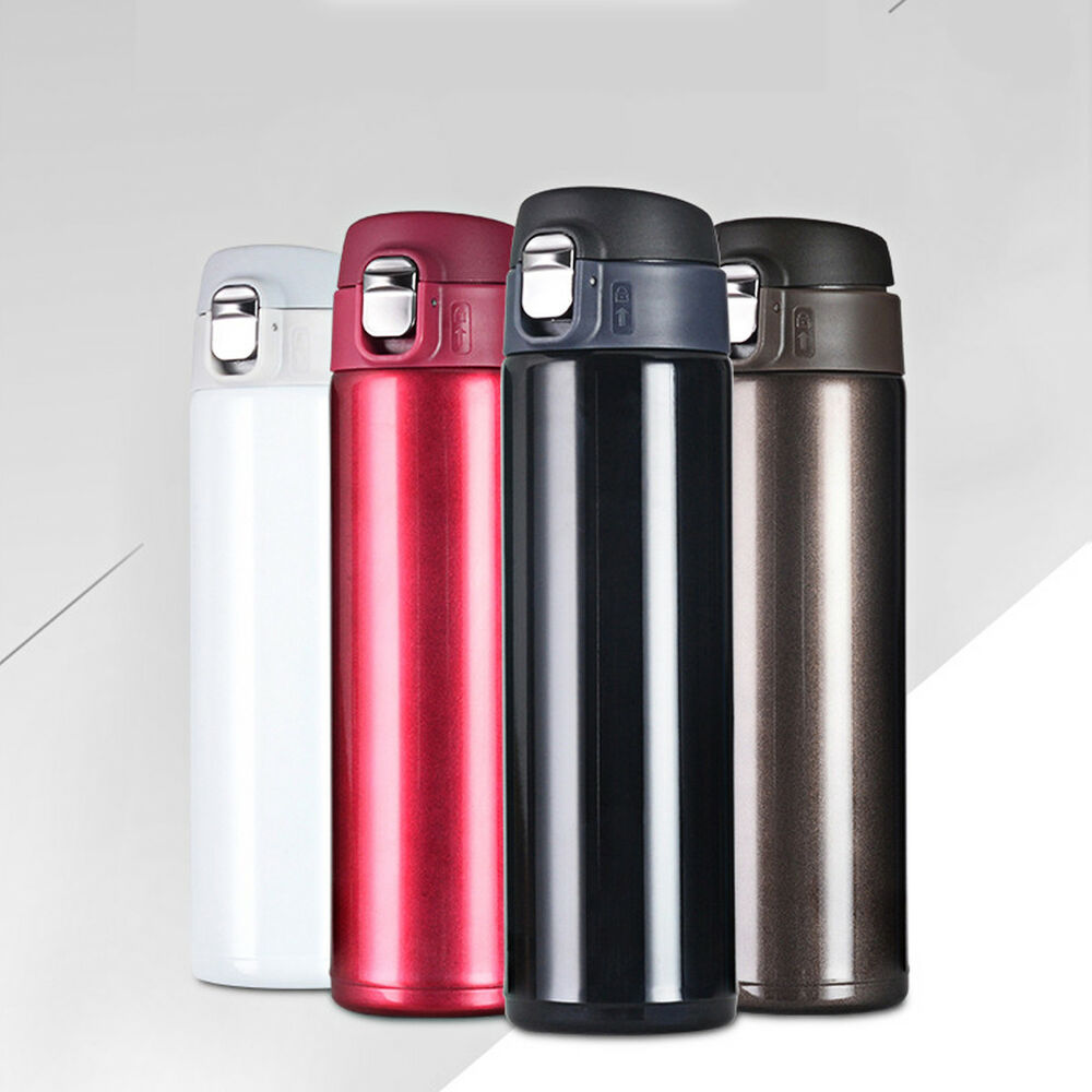 Details About 500ml Stainless Steel Vacuum Flask Water Bottle Thermos Coffee Travel Mug Cup