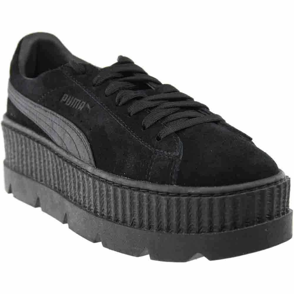 03ea764b7bf9 Details about Puma Fenty by Rihanna Suede Cleated Creeper Sneakers - Black  - Womens