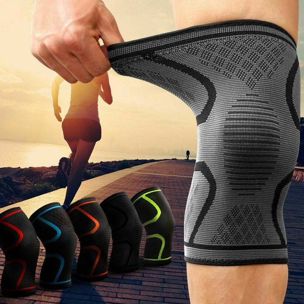 e1917743c6 2pcs/ 1 Pair Knee Sleeve Compression Brace Support For Sport Joint Pain  Arthritis Relief