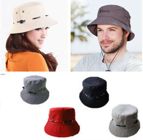 29b4705a Men Women Bucket Boonie Fishing Hiking Cap Summer Beach Military Safari Sun  Hats | eBay