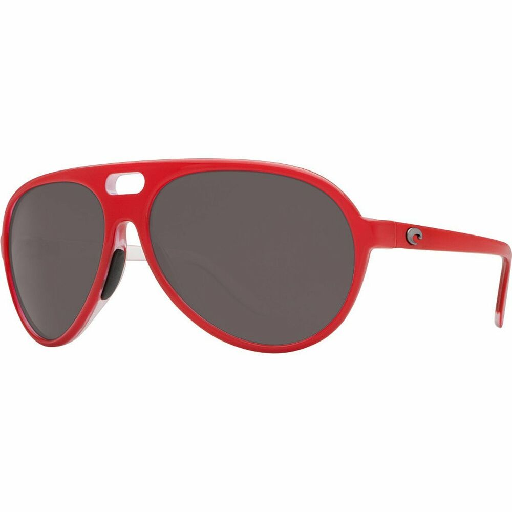 46bc8acbf30a5 Details about COSTA Del Mar GRAND CATALINA Polarized SUNGLASSES Red GRAY  Lens 580P FISHING Men