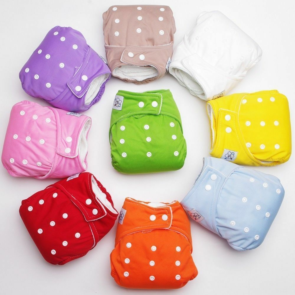 aef699f3837 Details about 1 PCS Adjustable Reusable Lot Baby Boy Girls Washable Cloth  Diaper Nappies New