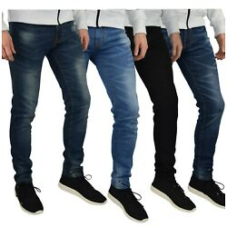 Kyпить Mens Slim Fit Stretch Jeans Comfy Fashionable Super Flex Denim Pants на еВаy.соm