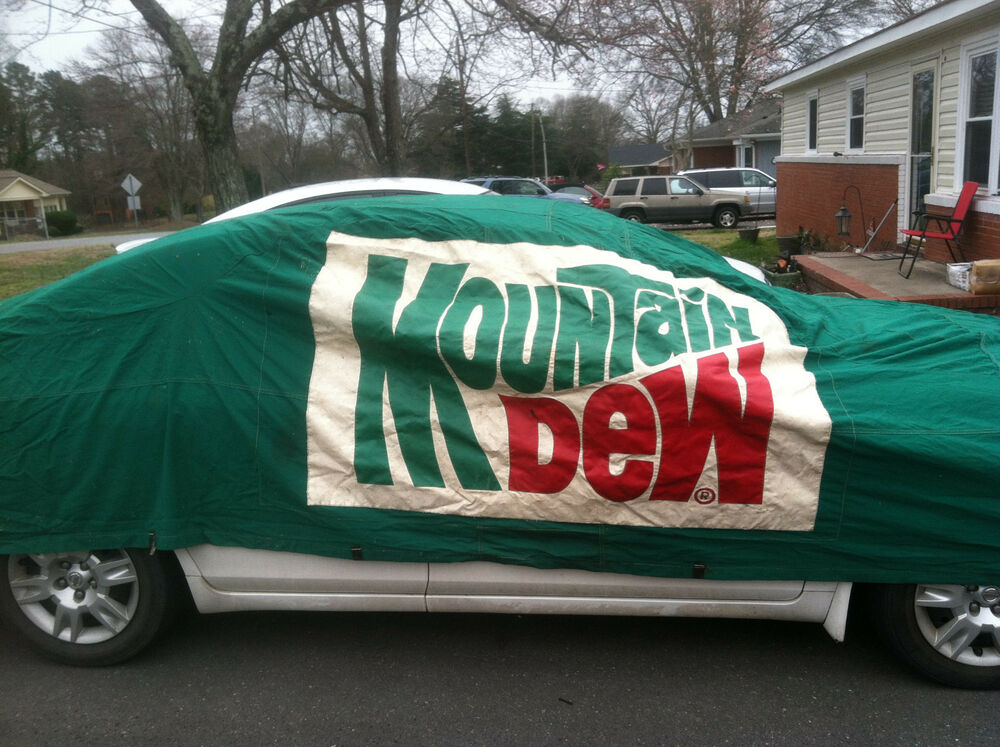 Darrell Waltrip Vintage Race Used Car Cover Mountain Dew 11 Nascar