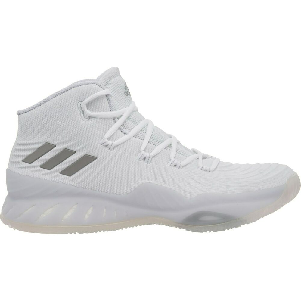 68922d6d6272 Details about Mens Adidas Crazy Explosive 2017 Basketball Shoes White Grey  Gray BY3766