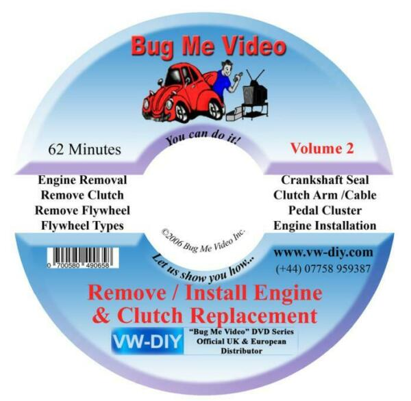 Royaume-UniVW Beetle Bus  New DVD Pull Engine Motor Replace Clutch Bug Me Video
