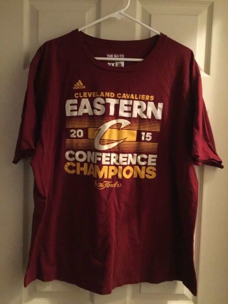 Adidas Eastern 2xlEbay Champs Cleveland 2017 T Roster Cavaliers Conf Maroon Shirt Sz wOP8n0kX
