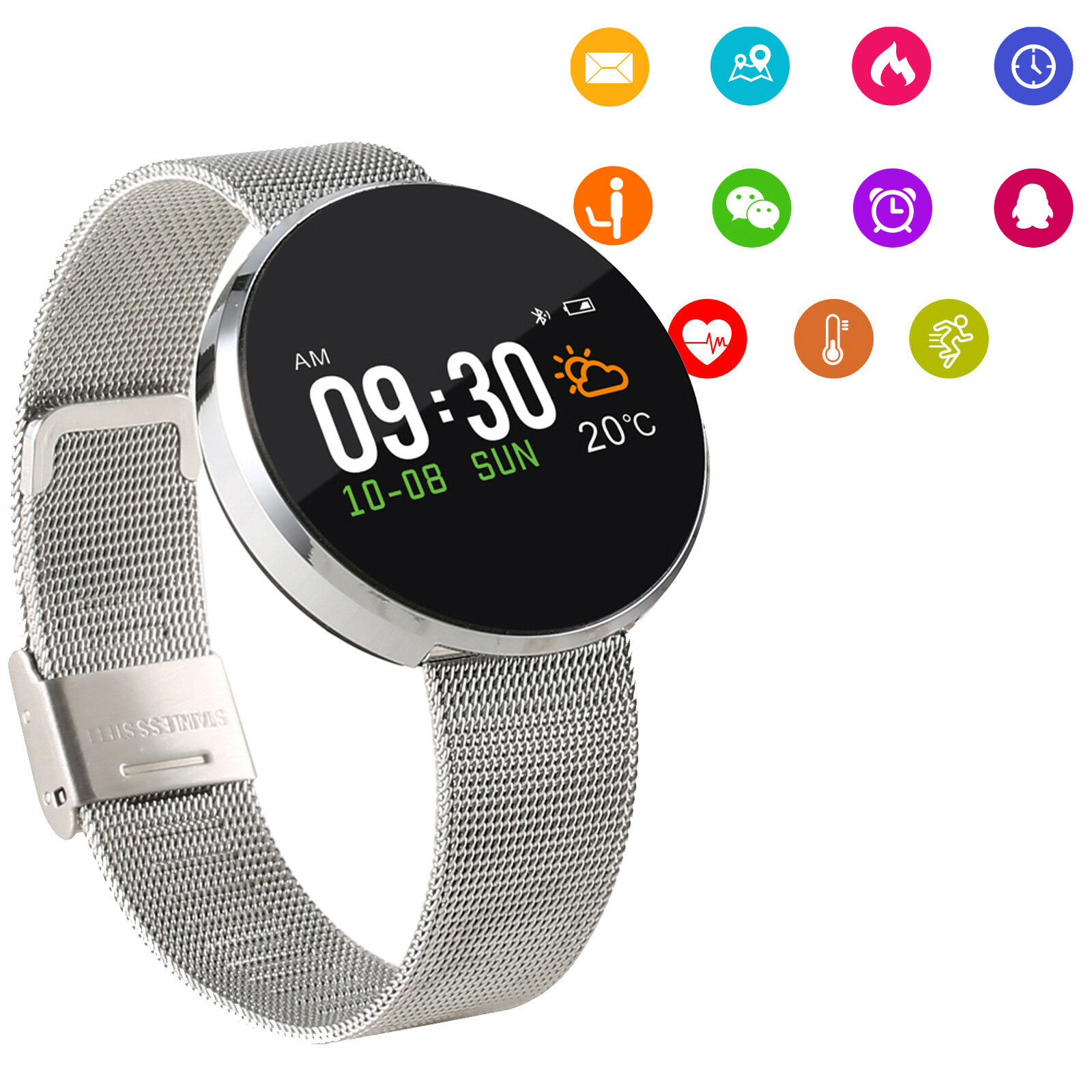 UPC 216752997899 product image for Bluetooth Smart Watch Heart Rate Smartwatch Call Reminder For Samsung S10 S9 S8 | upcitemdb.com