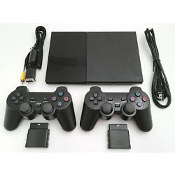 Kyпить 2 WIRELESS CONTROLLERS Sony PS2 SLIM Game System Gaming Console PLAYSTATION-2 на еВаy.соm