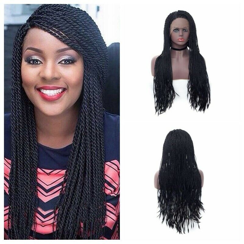 Sexy Micro Braids Wig Synthetic Box Braided Lace Front