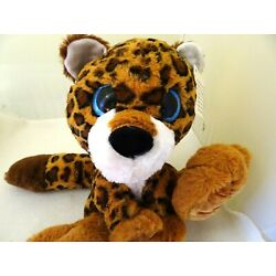 IDEAL TOY CO. SILLY PAW PALS 18'' BIG EYED LEOPARD-PLUSH/STUFFED ANIMAL/TOY-NWT!
