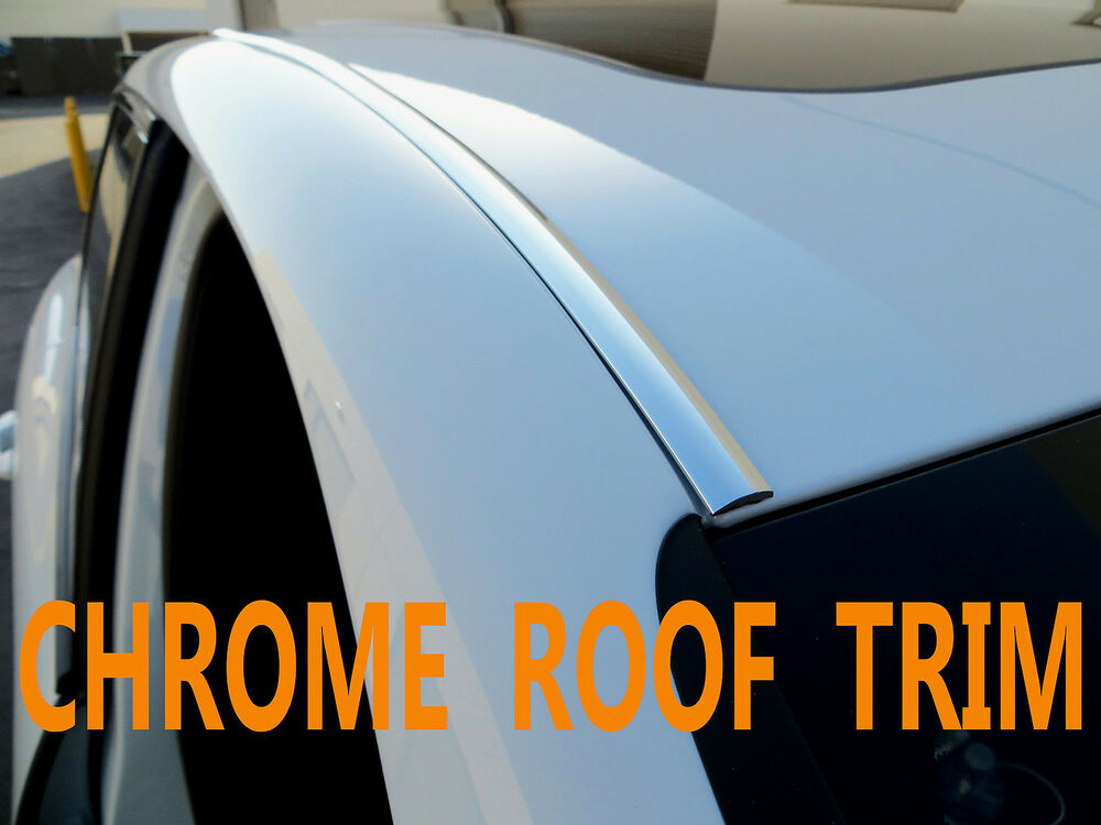 FORD CHROME FRONT//BACK ROOF TRIM MOLDING 2PC W//5YR WRNTY+FREE INTERIOR PC 2