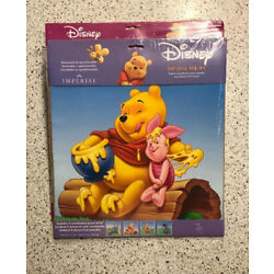 Blue Mountain Wallcoverings 31720448 Pooh Scenic 4-Piece Self-Stick Wall Art NEW
