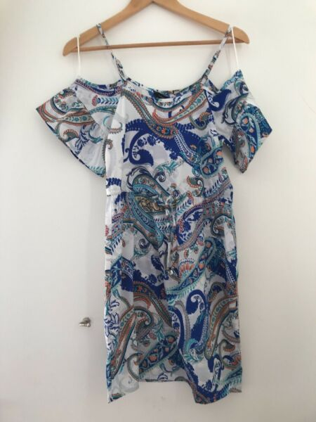 Ladoes Dress Size 6 Atmoshpere Blue Summer <JJ3736