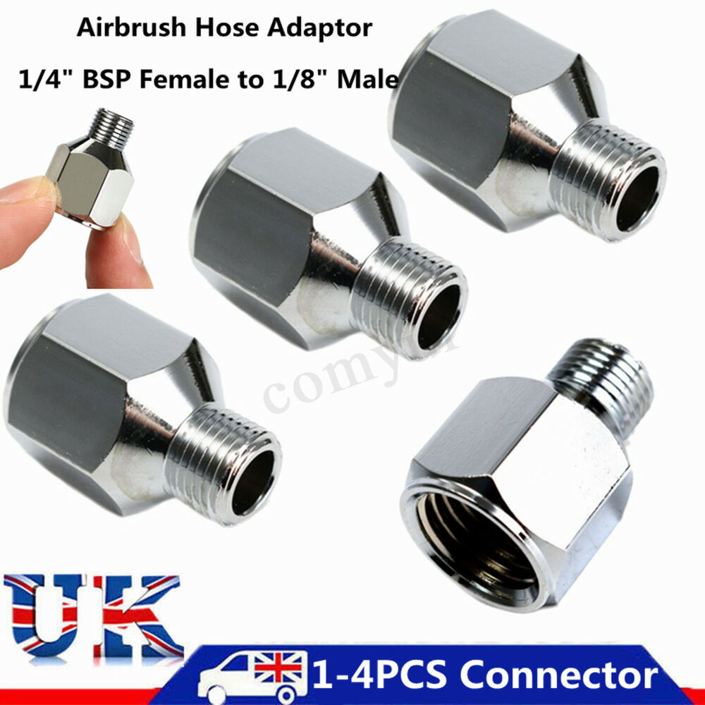 1/4 Female to 1/8'' BSP Male Compressor Airbrush Hose Fitting Adaptor