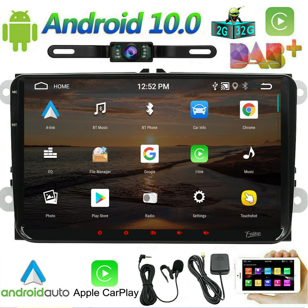 Android 9 0 Car Radio Dvd Gps Sat Navi Stereo For 2004