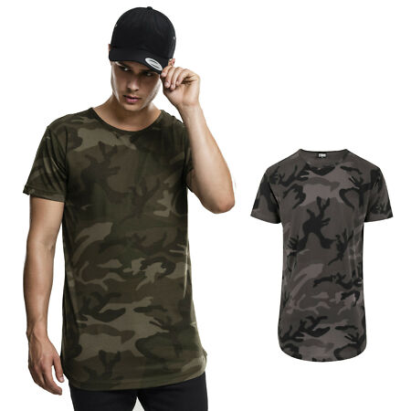 img-Urban Classics Camo Shaped Long Tee T-Shirt Army Camouflage Bundeswehr Extra