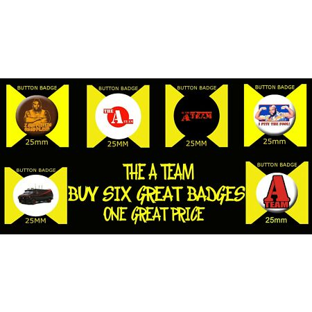 img-THE A TEAM - 25mm BUTTON BADGES - GREAT VALUE -