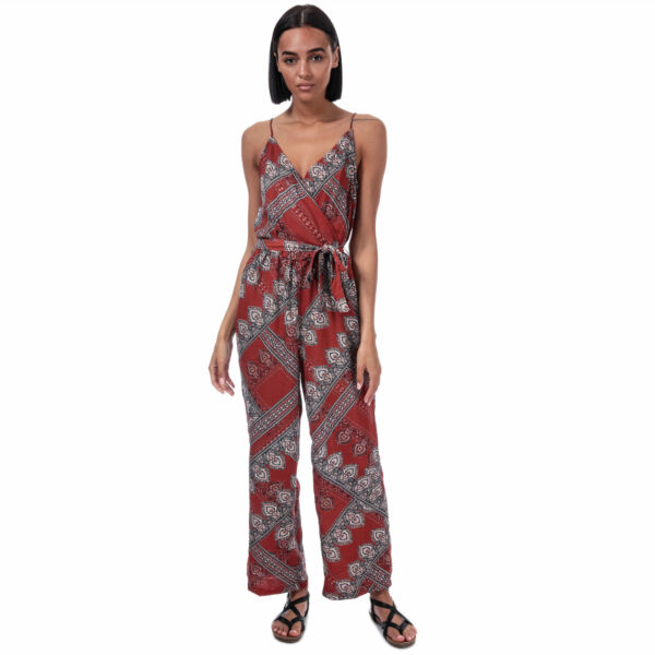 Only Combinaison Diana Scarf Print Rouille Femme