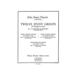 12 Studies Groups From Lasemaine du Virtuose  Trumpet John J. Haynie Book Only A