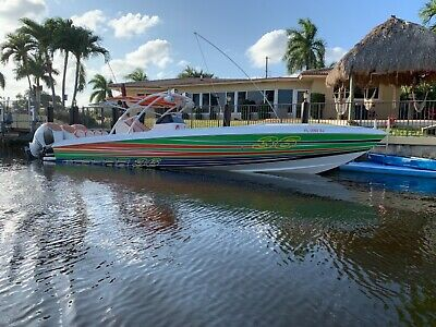 36 FOOT SCARAB  SPORT 30K PAINT!  3 MERCURY VERADOS  OPEN FISHERMAN  LIKE NEW!!