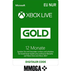 Kyпить 12 Monate Xbox Live Gold Mitgliedschaft Card - Xbox One & 360 Download Code - EU на еВаy.соm