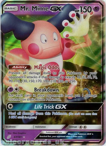 MR MIME GX 156//168 • Rara Full Art • Tempesta Astrale SM07 ITALIANO POKEMON