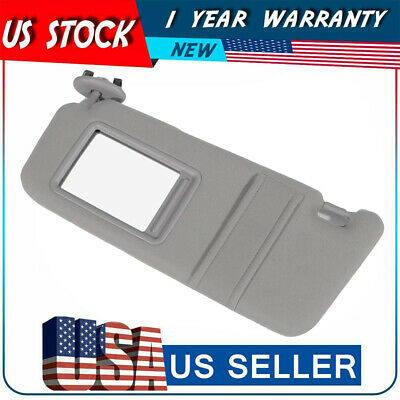 SUN VISOR LEFT DRIVER SIDE GRAY For 2007-2011 Toyota Camry WITHOUT SUNROOF NEW