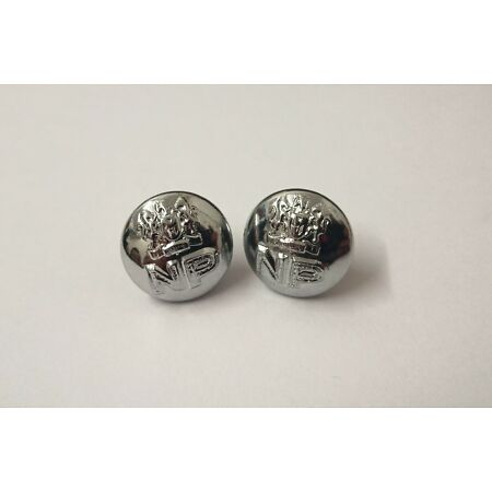img-Genuine Nigerian Police Forces Unity NP Insignia X2 Silver Buttons 12mm V0036