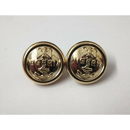 img-Genuine Nigerian Navy Issue Eagle and Anchor Insignia Ring Back Buttons X2 V0349
