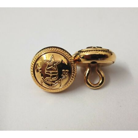 img-Genuine Military Issue X2 Navy GN Insignia Gold Ring Back Naval Buttons V949