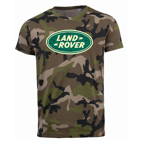 img-Land Rover Camouflage Distressed Logo Printed T Shirt Disco 4x4 Offroad